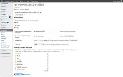 Backup Data WordPress Dengan WordPress Backup to Dropbox