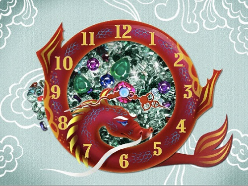 golden dragon clock Download Animasi Screensaver Dragon Year Clock