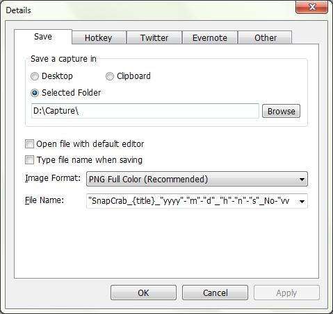SnapCrab details SnapCrab Screen Capture untuk Windows Gratis